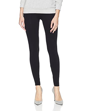 07dac994fdedc5 HUE Women's Power Graduated Compression Seamless Leggings, solid/black ...