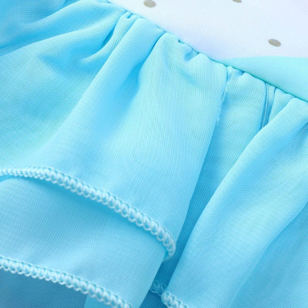 kaiCran Toddler Baby Girls Cute Swimsuits Animal Printing Lace Swimwear Bathing Suit