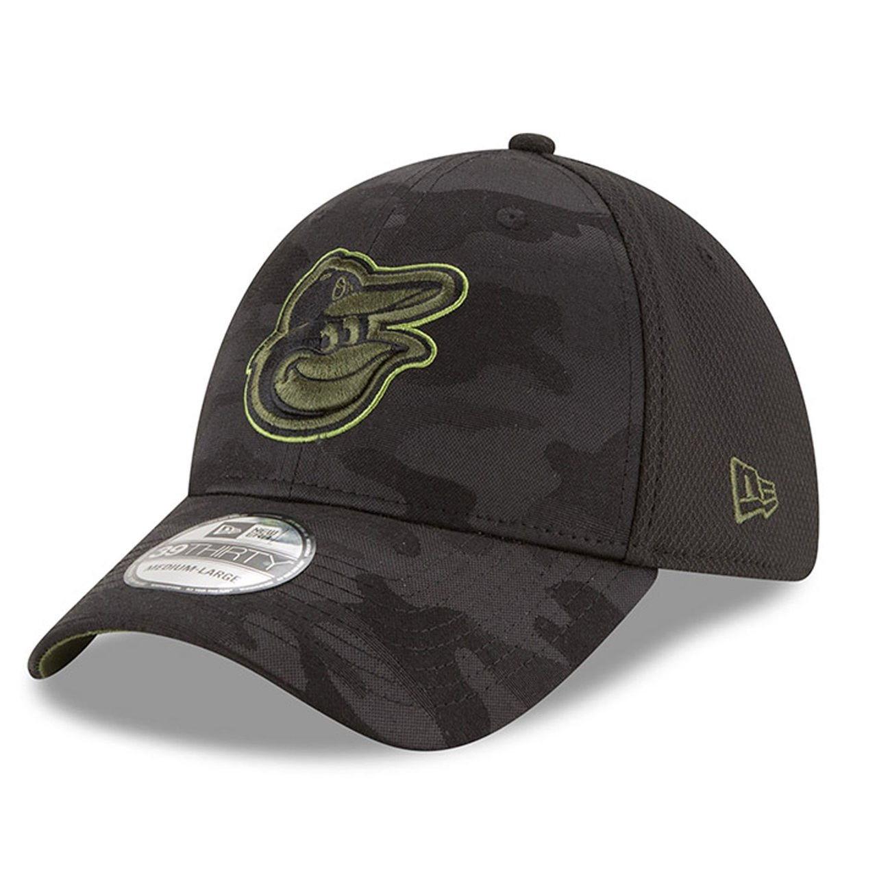 9d62ea800c255b Amazon.com : New Era Baltimore Orioles 2018 Memorial Day 39THIRTY Flex Hat  : Clothing
