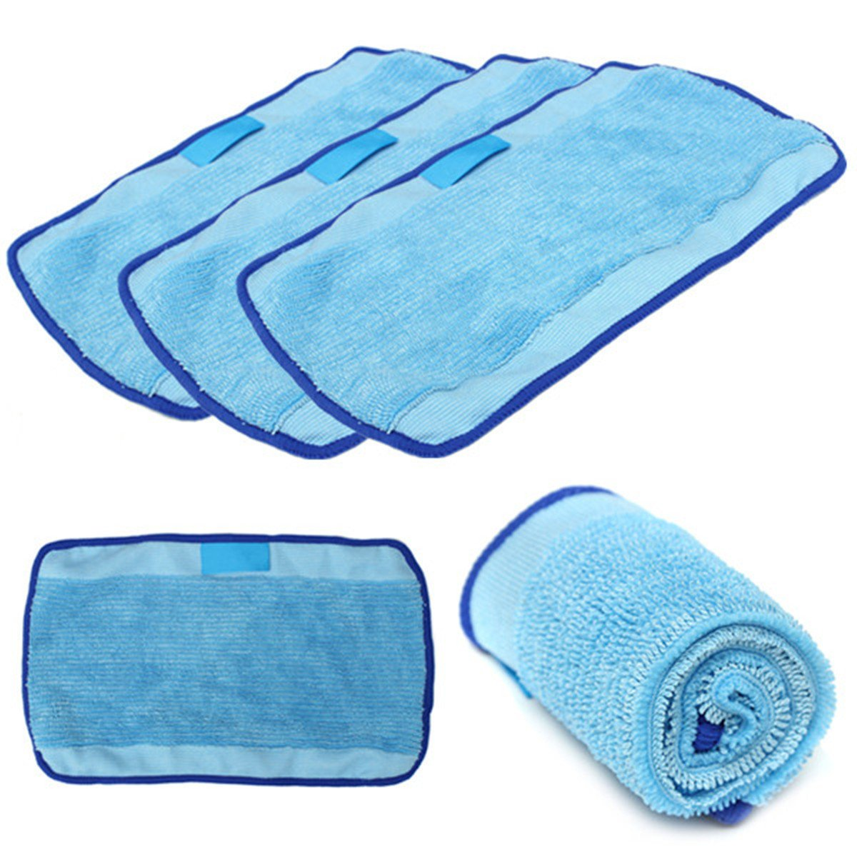 Bazaar 3Pcs Microfiber Mopping Cloths Spare Part for iRobot Braava 380t 320 Mint 4200 5200 Robot Big Bazaar