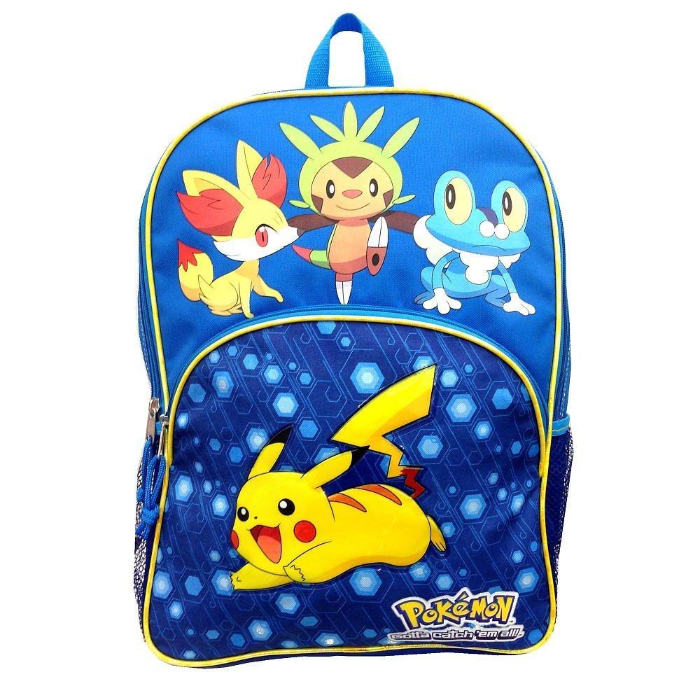 Pikachu Pokemon X & Y Backpack Jumping Froakie Chespin Fennekin by Pikachu   B00LC9E9X2
