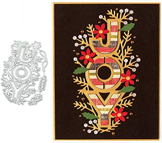 AkoMatial Cutting Dies,Oval Flower Frame Pattern Embossing Cutting Dies Tool Stencil Template Mold Card Making Scrapbook Album Paper Card Craft,Metal