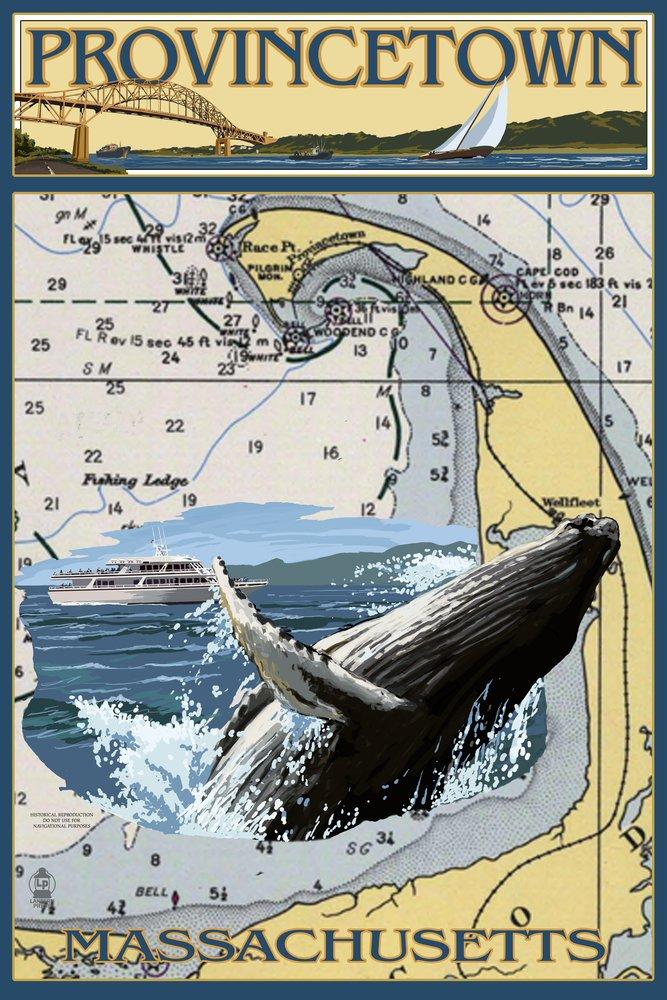 プロビンスタウン – Nautical Chart 36 x 54 Giclee Print LANT-49606-36x54 B017E9XQKA  36 x 54 Giclee Print