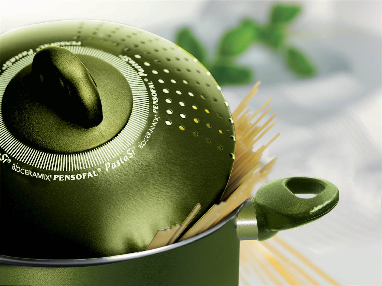 Pensofal Pen8728 PastaSì - Olla para pasta (7 L, 24 cm), color verde: Amazon.es: Hogar