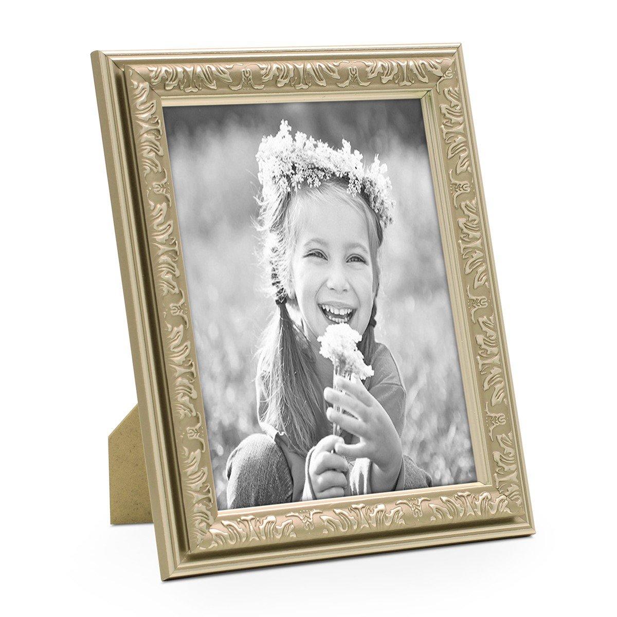 Photolini Bilderrahmen Antik Silber Nostalgie 13x18 cm Fotorahmen ...