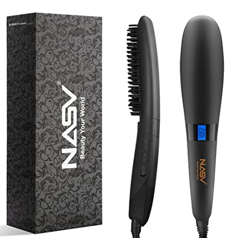 elehot cepillo eléctrico alisador para el pelo liso Peine raddrizzatore para pelo (cerámica pantalla LCD