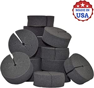 50 Pack Cloning Collar Inserts, Premium Rubber, Weather and Water Resistant, fits 2 inch net pots, Made in USA (50)