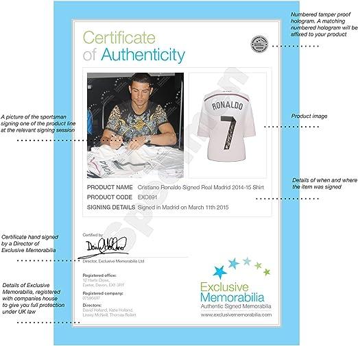 2014-15 Real Madrid camiseta de fútbol firmada por Cristiano ...