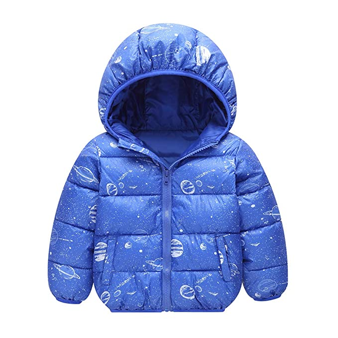 270866dfb Amazon.com  Feidoog Boys Winter Jacket Hoodie Coat Outerwear Solid ...