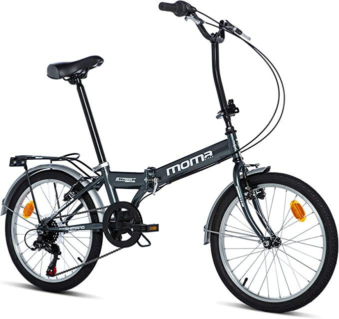 Moma Bikes Bicicleta Plegable Street, 6 velocidades, Adultos ...
