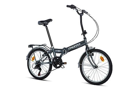 Moma Bikes Bicicleta Plegable Street, 6 velocidades, Adultos Unisex, Gris, Talla Unica