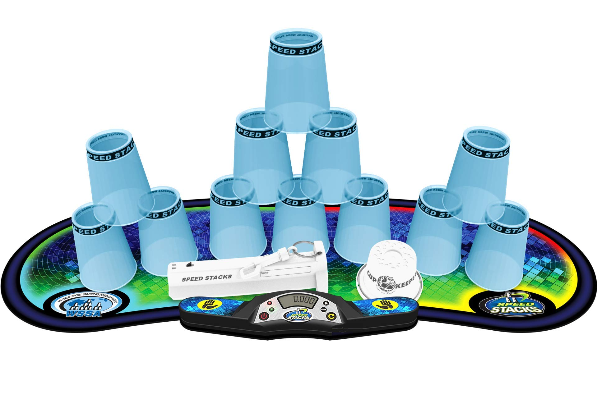 Speed Stacks Competitor - Pro Series 2X Blue Ice w/ Voxel Glow Mat
