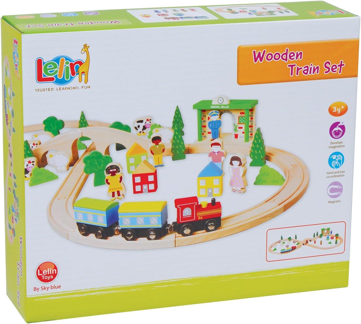 Lelin Toys 31916 Wooden Train Set