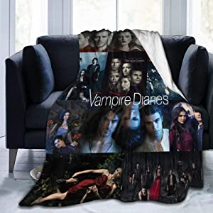 BHUOKNG Vampire Plush Throws Blanket Micro Fleece Blanket Nap Quilt Air Conditioning Blanket for Womens Mens Boys Girls for Chair Sofa Bed Car Bedroom Home Office Lightweight Gift
