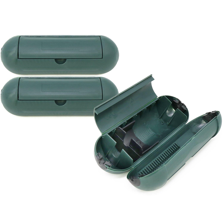 com-four® 3X Prise de Courant, Prise étanche aux Projections d'eau pour connecteurs de câble, Ø 7 x 21 cm Prise étanche aux Projections d'eau pour connecteurs de câble Ø 7 x 21 cm
