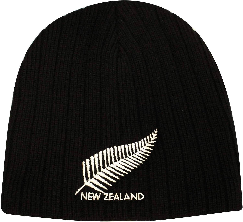 Erwachsene New Zealand Isolierte Rugby-Beanie-M/ütze