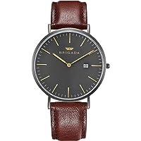 Cool Gray Minimalist Dress Watches for Men Waterproof, Business Casual Men's Wrist Watch with Calendar