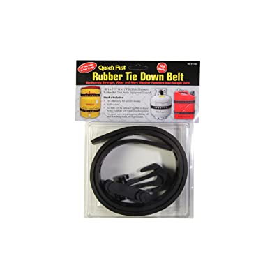 """Quick Fist Rubber Tie Down Belt 38"""" long with 2 snap-in hooks for mounting equipment: Clamps: Industrial & Scientific"""