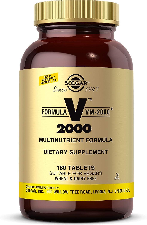 Solgar Fórmula VM-2000 Complemento Alimenticio - 180 Tabletas