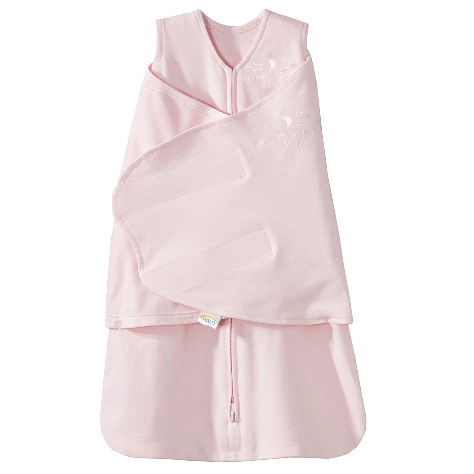 HALO SleepSack 100% Cotton Swaddle, Soft Pink, Newborn by Halo