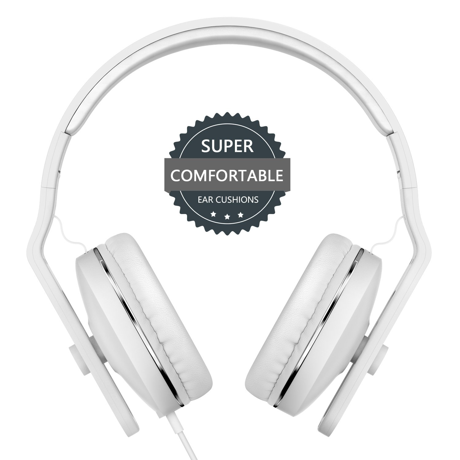On Ear Headphones with Microphone - seenda Lightweight & Foldable Wired Headphones with Volume Control for iPhone Samsung Smartphones, Tablets, Laptops, PC and More by seenda
