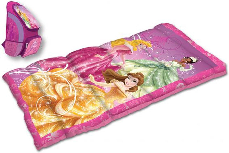 Disney Princess Backpack and Sleeping Bag Combo, Dark Pink