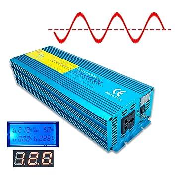 Cantonape 2500W (Pico 5000W) Inversor de energía de Onda ...