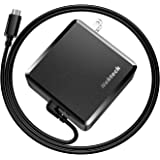 USB C Wall Charger, Nekteck 90W Power Delivery Laptop Charging Adapter with Built-in 6ft Type Cable for MacBook Pro/Air 2018, Dell XPS, Matebook, HP Spectre, iPad Pro 2018, Pixel, Galaxy (Upgraded)