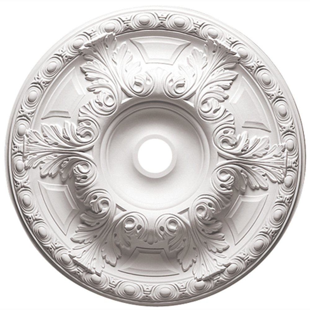 Focal Point 81024 24-Inch Emma Medallion 23 11/16-Inch by 23 11/16-Inch by 2 3/4-Inch, Primed White