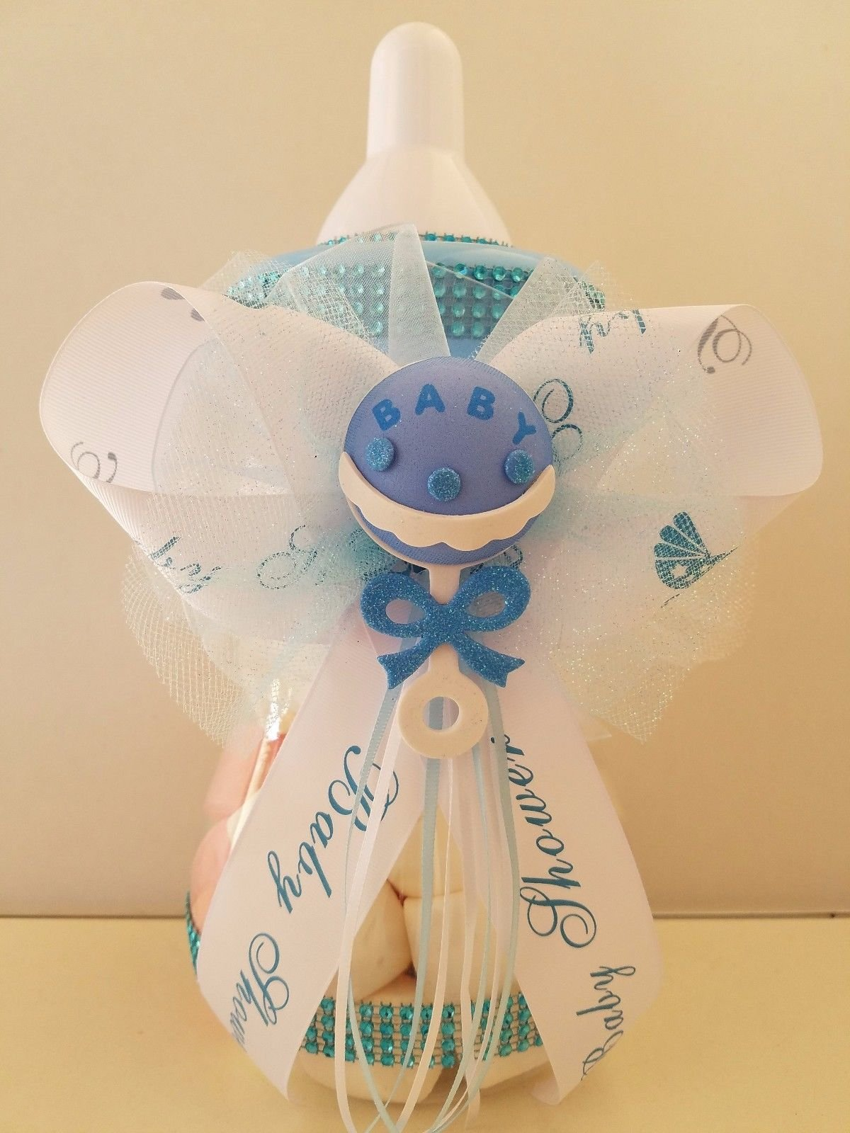 Baby Shower Centerpiece Fillable Bottle Large 12'' Rattle Bank Table Decorations by Product789