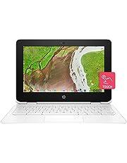HP Chromebook x360 11-ae105nf 11,6'' Tactile Blanc (Intel Celeron N3350, 4 Go de RAM, 64 Go de stockage, Chrome OS)