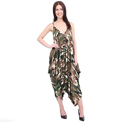 MISS BOHO CHIC - Mono - para Mujer Camouflage X-Large-44-46: Ropa y accesorios