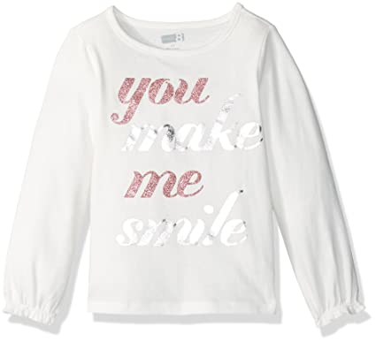 1651a514d791 Crazy 8 Little Girls & Toddler Long-Sleeve Fashion Graphic Tee, Smile, 2Y:  Amazon.in: Clothing & Accessories