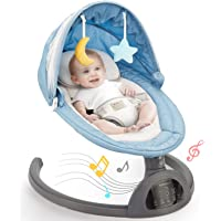 Baby Swing Bluetooth Enabled, Remote Control Baby Swings for Infants with 5 Swing Speeds, LED Touch Screen Baby Swings…