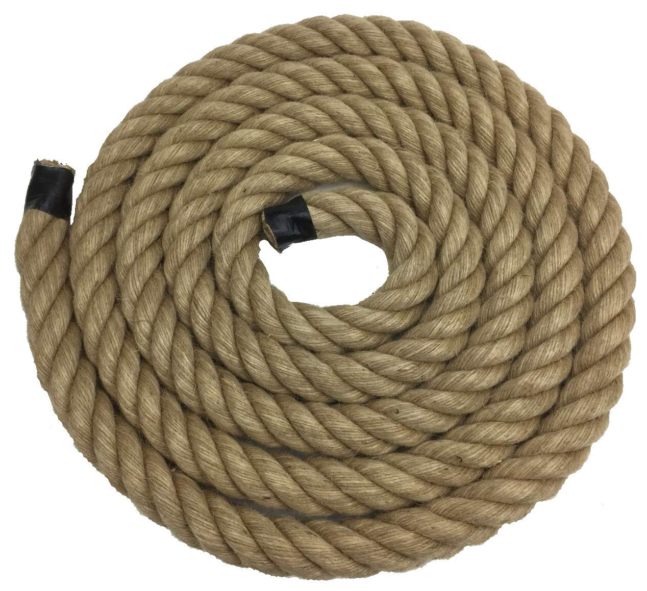 RopeServices UK 24mm Natural Jute Rope x 25 Metre Length - 4 Strand, Decking, Garden, Boating, Home