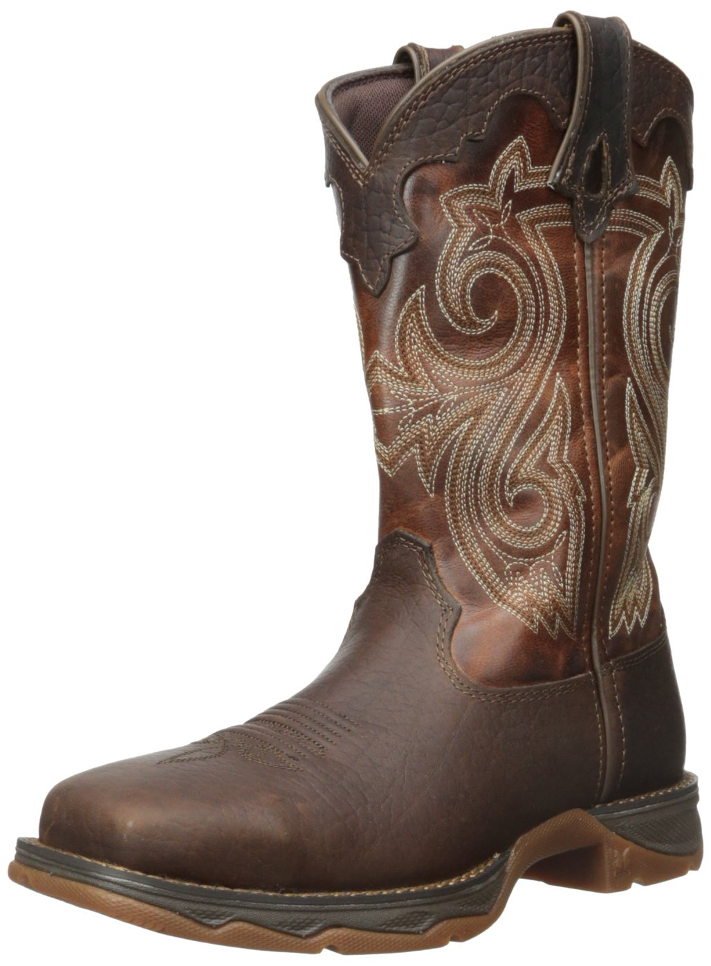Durango Women's RD3315 Western Boot, Dark Brown/Sunset Brown, 8 M US