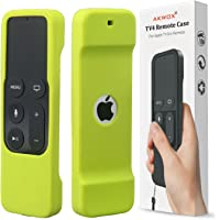 Akwox Light Weight [Anti Slip] Shock Proof Silicone Cover for New Apple Tv 4th/4k Generation Siri Remote Controller (Green)