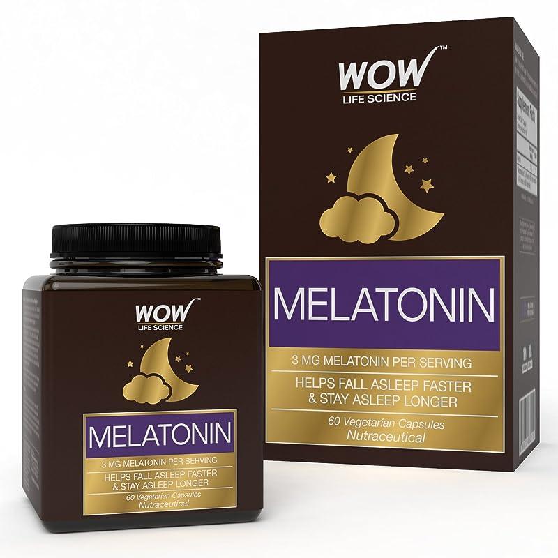 WOW Melatonin 3mg - 60 Vegetarian Capsules
