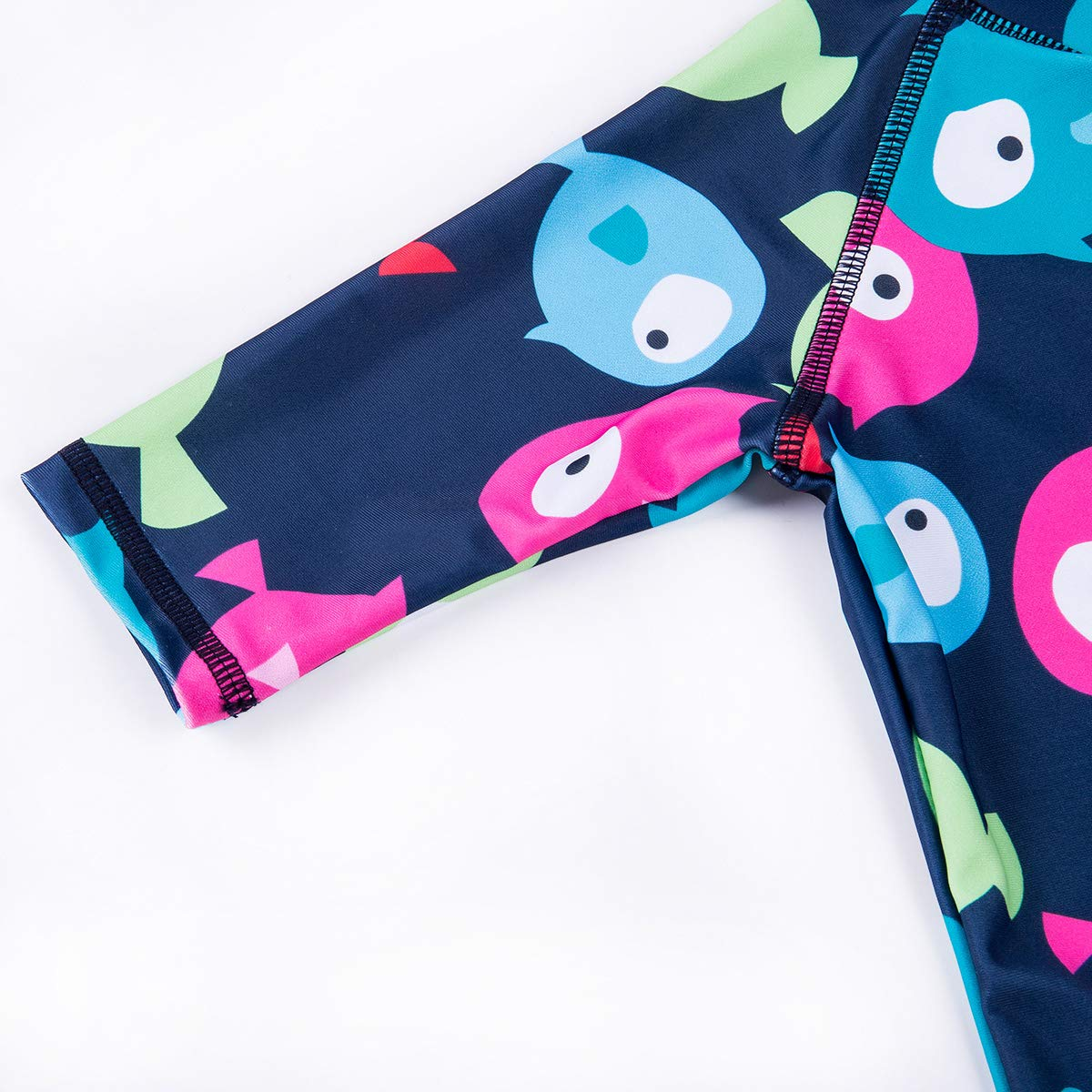 Kids Baby Boys Girl One Pieces Swimsuit with Hat Cartoon Rash Guard Short Sleeve Swimwear Sun Protection Bathing Suit