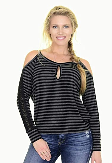 acc3a7e8e965b Image Unavailable. Image not available for. Color  Lovers+Friends Women s Cold  Shoulder Jersey Top ...