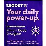 EBOOST Super Powder Energy Drink Mix - 20 Packets - Acai Pomegranate - an Effervescent Blend of Vitamin C, B12, Zinc…