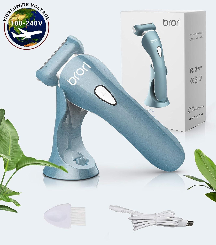 Brori Afeitadora Electrica Mujer - Maquina de Afeitar afeitadora ...