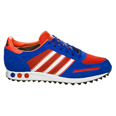 Adidas Mens LA Trainer M18222 in Blue Red White Suede