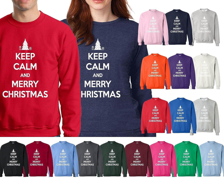 Amazon.com: Xmas Keep Calm and Merry Christmas Ugly Happy Holiday ...