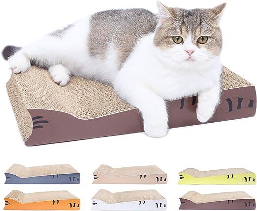 AMZNOVA - Almohadilla para rascar Gatos, rascadores para Gatos, cartón Corrugado reciclable con Parte Inferior: Amazon.es: Productos para mascotas
