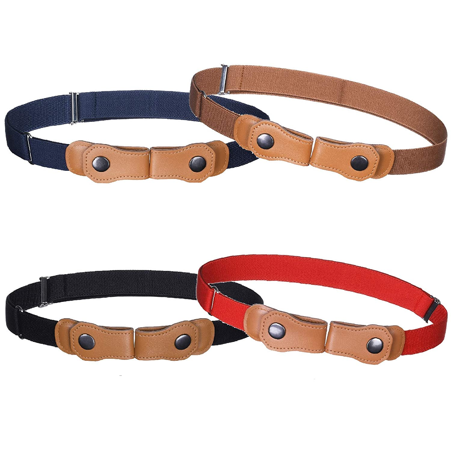 Boys Girls No Buckle Belt 4PCS Toddlers Invisible Belt For Boys /& Girls Stretch Waist Belt Up to 30 Inches