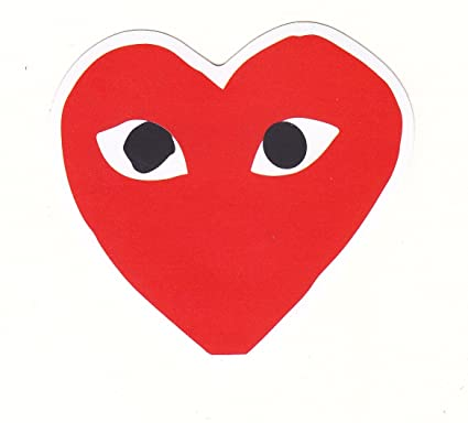2497d6883c64 CDG Comme des Garçons Red Head Sticker for Skateboards