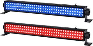 LED Stage Lights Bar, 2 Pack 20'' 25W 108LEDs RGB Wash Light Bar DMX Control Auto Play Strobe Effect Uplighting for Wedding Church DJ Party Stage Lighting Supply
