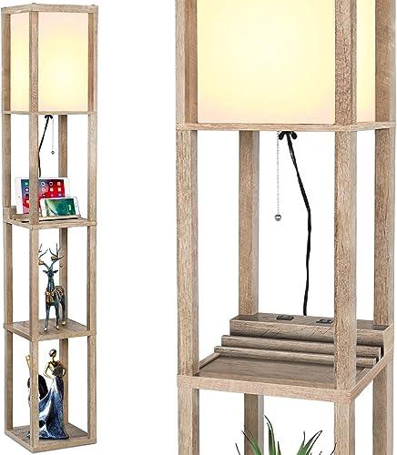 Modern LED Shelf Floor Lamp