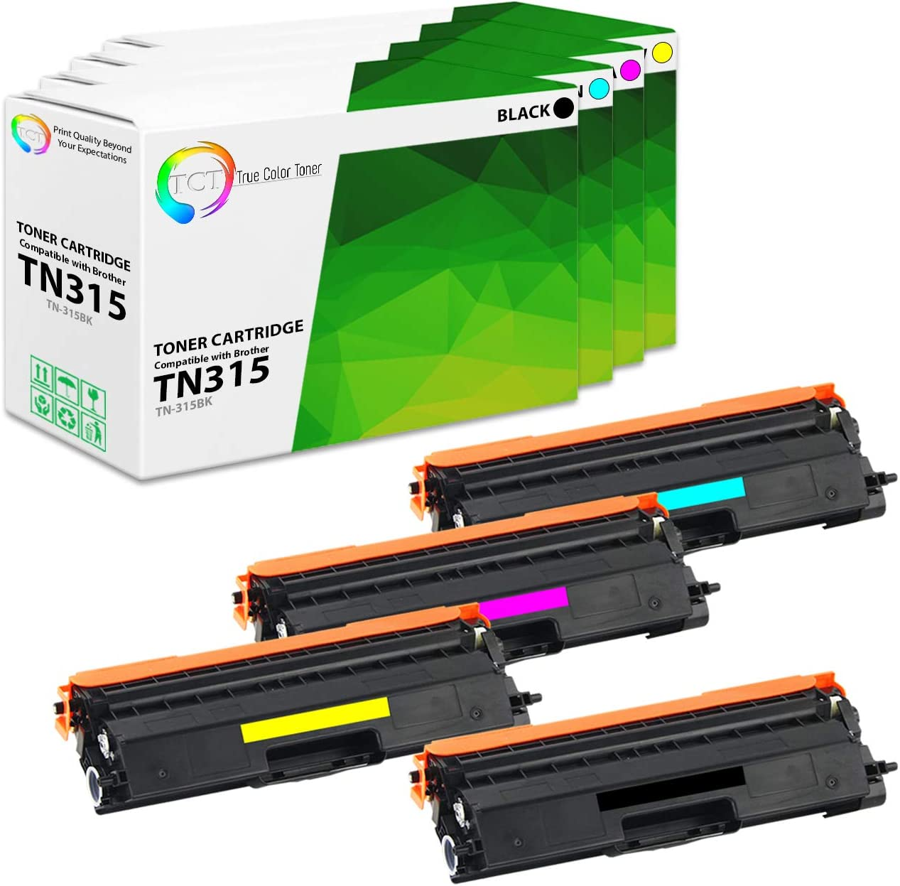 4PK TN-315 Black and Color Toner Cartridge for